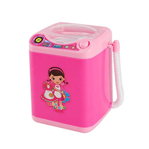 MAITING Makeup Brush Cleaner Device Automatic Cleaning Washing Machine Mini Toy (Pink)