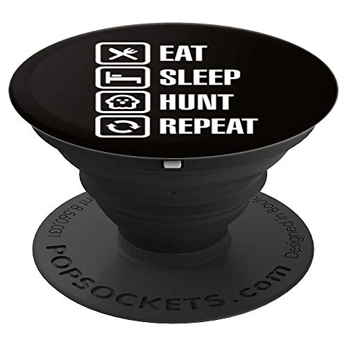 Funny Eat sleep ghost hunt repeat - ghosthunter gift idea - PopSockets Grip and Stand for Phones and Tablets ()