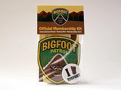 Bigfoot Patrol Version Ape-Man Membership Kit W/ Patch, Card, Pin/Button (Bigfoot Products)