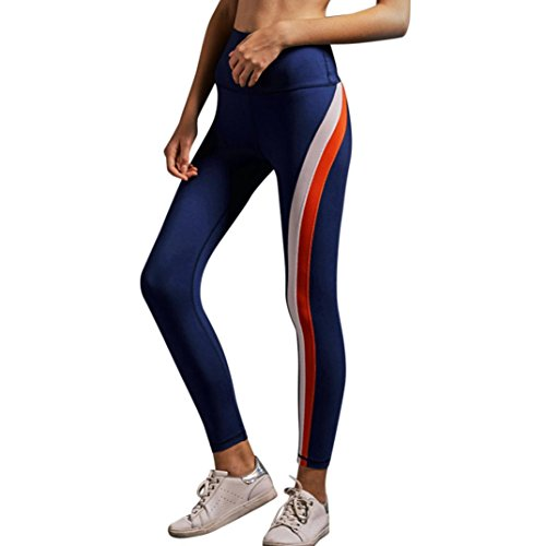 Final Clear Out! HGWXX7 Women Sexy Striped High Waist Yoga Pants Leggings for Workout Sports Gym Running Fitness (Workout Pant Striped)