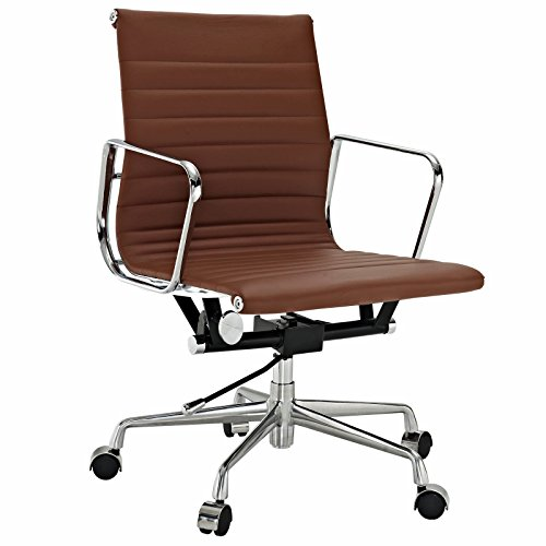eMod - Eames Ribbed Mid Back Office Chair Leather - Eames Chairs Office