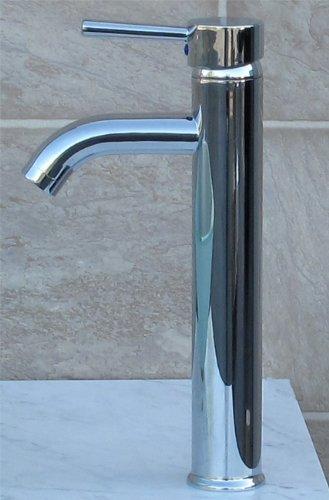Bathroom Rectangular Ceramic Porcelain Vessel Vanity Sink 7241 C3 combo free Chrome C3 faucet, Chrome Pop Up Drain with no overflow