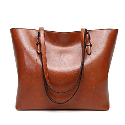 Cawmixy Purses and Handbags for Women Tote Satchel Shoulder Bags Classic Woman Clutches Bags (brown)