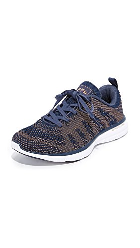 APL: Athletic Propulsion Labs Womens Techloom Pro Sneakers Midnight/Rose Gold