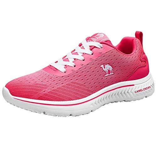 CAMEL CROWN Damen Herren Laufschuhe Ultraleichte Mesh-Trainer Turnschuh Atmungsaktive Freizeitschuhe Sportschuhe Sneakers