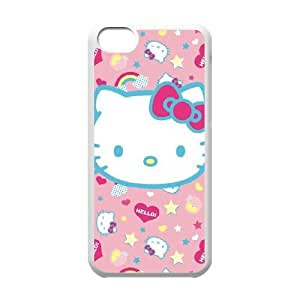 Hello Kitty Pink, Hearts & Rainbows iPhone 5c Cell Phone Case White Delicate gift JIS_355308
