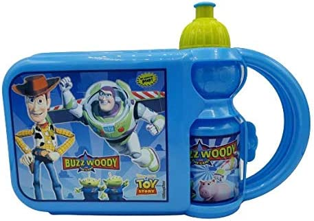P.I.Sport N.Y. Juego Lunch Box Plus Botella, Multicolor Bolsa merienda con sandwichera y cantimplora Toy Story