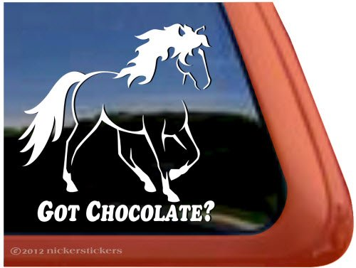 Got Chocolate? ~ Rocky Mountain Horse Trailer Vinyl Window Decal Sticker