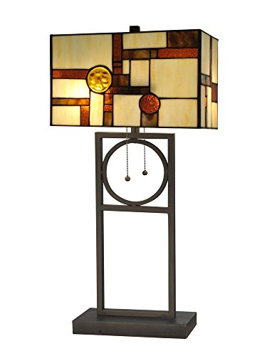Bronze Table Lamp Framed Art - Dale Tiffany TT13189 Boca Raton Tiffany Table Lamp Bronze