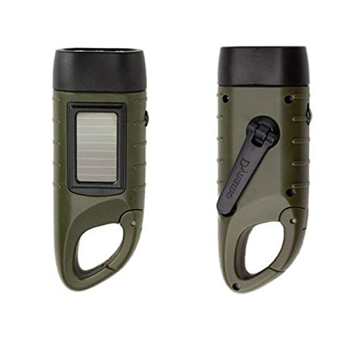 Vertily Solar Flashlight Portable Ultra Bright Handheld Flashlight Rechargeable Hand Crank Dynamo Powered Torch Outdoor Water Resistant Torch Powered Mountaineering Flashlight for Camping Hiking - Hand Dynamo Crank