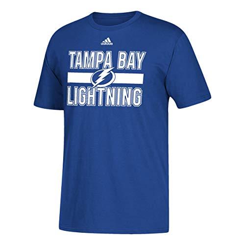 adidas Tampa Bay Lightning Adult Game Day Short Sleeve T-Shirt - Royal, X-Large