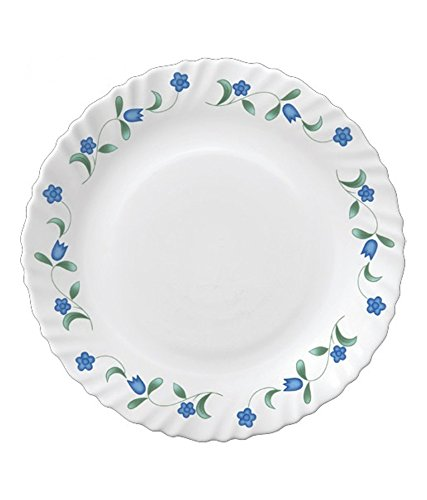 LaOpala Juniper Dinner Set, 33-Pieces, White/Blue