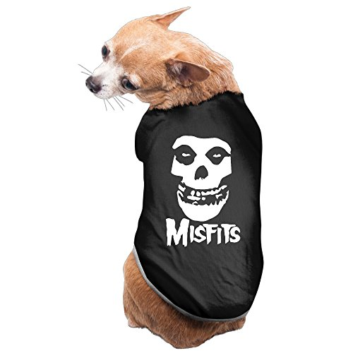 Costume Ni Knights Of (Punk Rock Allover Misfits Skull Head Portrait Dog's Pet Dogs T)