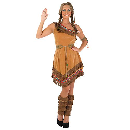 Womens Native American Indian Costume Adults Brown Wild West Dress - Medium]()