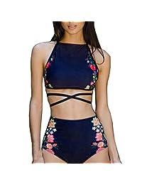 d32d8d56dba08 Talle alto traje de baño liraly Womens bañadores de Bikini Set push-up  acolchado brasier