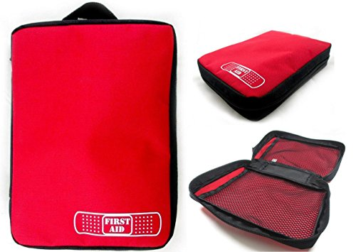 1 Excellent Quality ALAZCO First Aid Kit Empty Storage Bag For Your Favorite Sports, Medical, Survival Emergency / Diabetic Supplies Hiking Travel Gym Car RV Boat