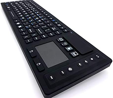 fe88674c1c8 DSI RF Wireless Keyboard with Touchpad IP67 Waterproof Silicone Black  TBK104. Loading Images... Back. Double-tap to zoom