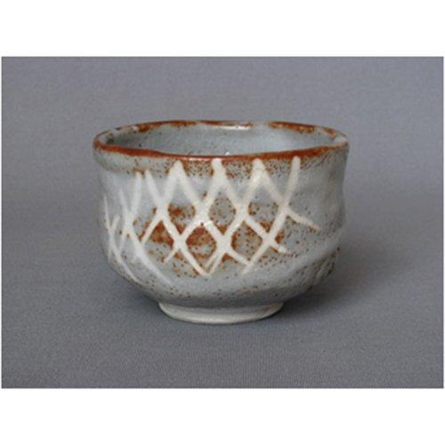Matcha bowl mouse Shino tea bowl [12xh9cm] Teruyuki work Mizuno 1 call / Ki-bakoIri restaurant Japanese instrument business for eateries by Crockery Honpo