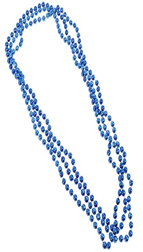 Play Kreative Metallic Bead Necklaces -12 pk TM (Blue)