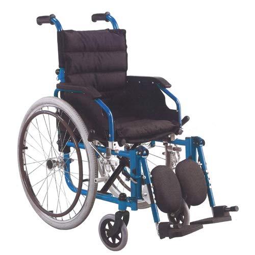 【期間限定お試し価格】 Nice Way(ナイスウェイ) 子供用小柄な人用 自走式折りたたみ ブルー 車椅子 Nice B07G9YG9LS【座面幅約35cm】【頑丈】【自走式】【クッション付き】 (ブルー) ブルー B07G9YG9LS, 協和町:8e53c3fa --- 4x4.lt