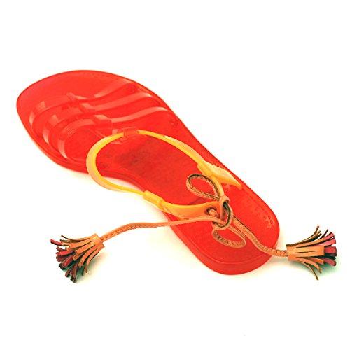 Para dedo del pie-Post Juicy Couture carcasa blanda de y pedrería para mujer, estándar del Reino Unido 3 -  3 5. DE £78 - Dragonfruit-Orange