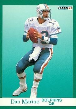 online store 98b17 f0c1f Amazon.com: Dan Marino Football Card (Miami Dolphins) 1991 ...