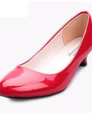GGX  Damenschuhe-High Heels-Büro   Lässig-Kunstleder-Kitten Heel-Absatz-Absätze-Schwarz   Rot   Weiß B01KL74BKG Sport- & Outdoorschuhe Geschäft