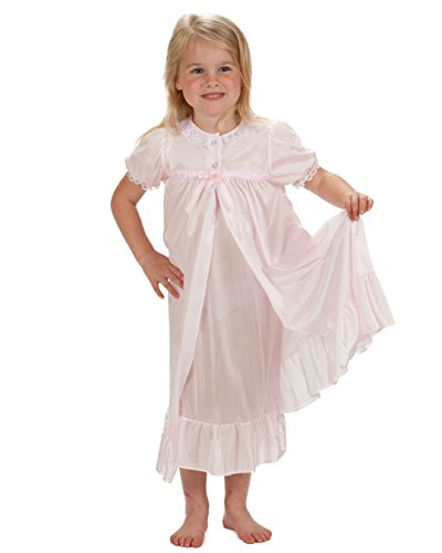 Tradition Rouge (Laura Dare Little Girls Pink Short Sleeve Tradition Peignoir Set,)