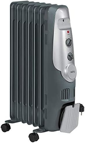 AEG RA 5520 - Radiador de aceite, 1500 W, 7 elementos, termostato ...