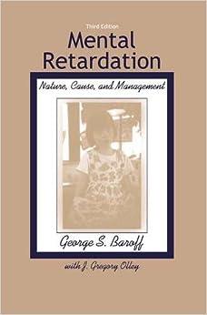Book Mental Retardation: Nature, Cause, and Management