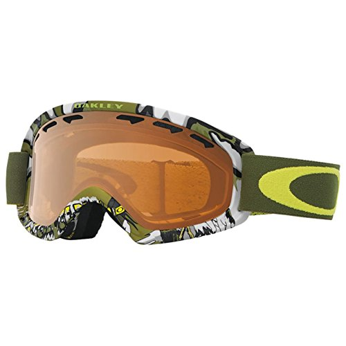 Oakley O-Frame 2.0 XS Snow Goggles, Shady Trees Army Green Frame, Persimmon Lens, - For Oakleys Military