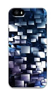 3d geometric Custom iPhone 5s/5 Case Cover Polycarbonate 3D New Year gift