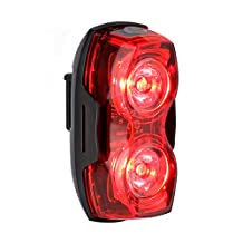LE LED Bike Lights, Battery Powered , 2 LEDs, 3 Light Mode Options, 2 AA Batteries Included, Waterproof Tail Lights, Rear Bike Light, Used for Safety and Warning