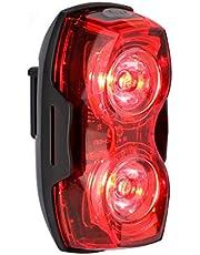LE Feu Arrière Vélo LED Alimenté par piles, 2 LEDs 3 Modes d'éclairage, 2 piles AAA Incluses, Feux Arrière Étanche IP65 Ultra-léger Sécurité routière VTT VTC Cyclisme Camping