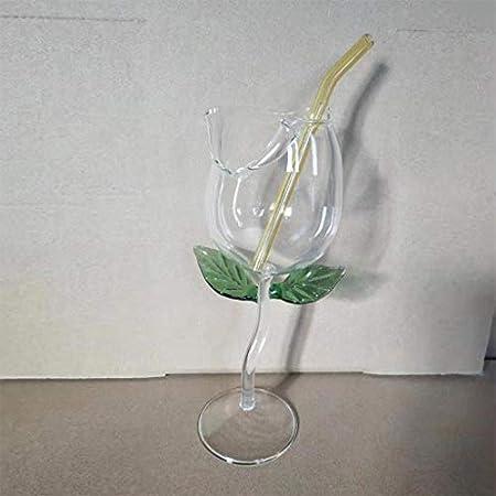 Desconocido Vasos Copa, Copa Copa de Vino Copa con Forma de Flor Rosa Copa de cóctel de Vino Tinto sin Plomo Copas de cóctel en casa Banquete de Boda Barware Vasos Regalos