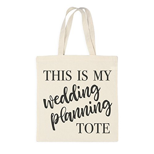 Ivy Lane Design AM1052 Cotton Tote Bag, Wedding Planning by Ivy Lane Design