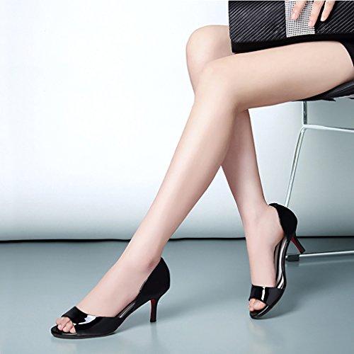 Verano Negro de Femenino de Medio del Compras los PENGFEI Trabajos Sandalias Las Blanco Antideslizantes Sandalias Negro Sandalias Rojo Sandalias del de Las Tacón del y TxwTI8qR6