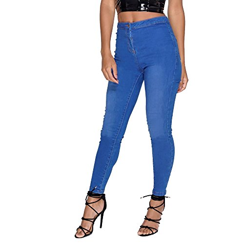 Waisted Outlet High Fit Jeans Plus Jeggings Royal Stretch Fashion Womens New Envious Skinny EnviousFashion Size Blue Bgc8T