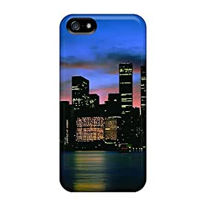 New Snap-on Phone Case Skin Case Cover Compatible With Iphone 5/5s- City