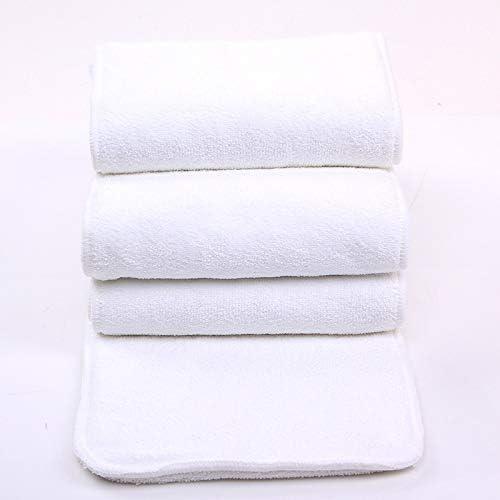 reutilizable grande de 4/capas Talla:6 Bamb/ú microfibra Insertos Liners para adultos pa/ñales de tela para cuidado de incontinencia absorbente lavable