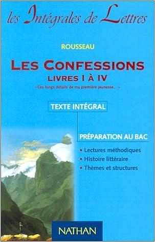 Les Confessions, livres 1 à 4 pdf, epub