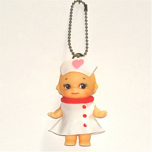 Rose O'neill Kewpie in Nurse Outfit with Chain