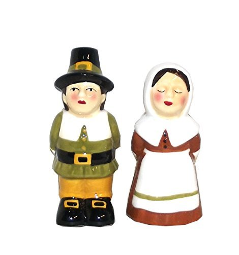 (Ganz Mr. and Mrs. Thanksgiving Pilgrim Salt and Pepper Shaker Set)