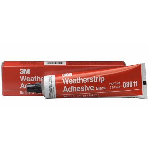 3M 08011 Black Weatherstrip Adhesive Tube - 5 oz.