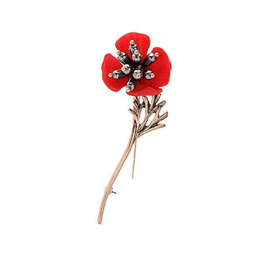 Oba new European and American fashion jewelry brooch red creative design three-dimensional sculpture resin flower brooch female
