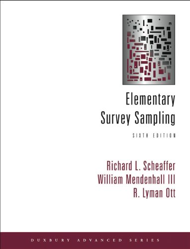 Elementary Survey Sampling (with CD-ROM)