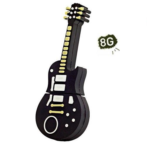 Pendrive Memoria 8GB Conexión USB 2.0 Muñeco Guitarra Negra de 8GB: Amazon.es: Electrónica
