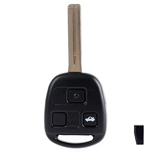 ECCPP 1X 3 Buttons Replacement Keyless Entry Remote Uncut Car Key Fob for Lexus LS430 ES330 HYQ12BBT by ECCPP