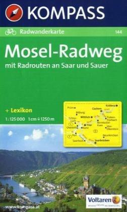 Kompass Karten, Mosel-Radweg mit Radrouten an Saar und Sauer (Englisch) Taschenbuch – Folded Map, 1. August 2010 144 Kompass KOMPASS-Karten Innsbruck 3854916795