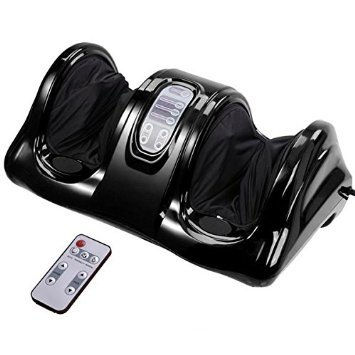 Triprel Inc Professional Lightweight Portable Foot Leg Massager Kneading and Rolling Calf Ankle w/ Remote - Black